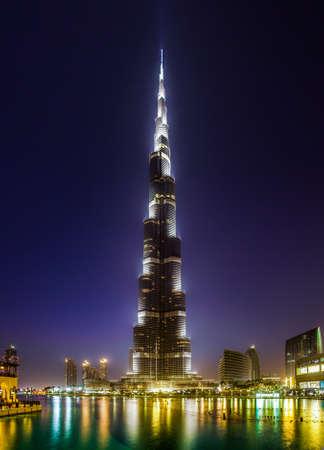 burj khalifa dubai at dusk Editorial