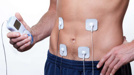 stimulation: Electrical muscle stimulation ems training Stock Photo