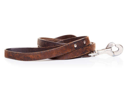 leather: retro vintage old brown leather leash