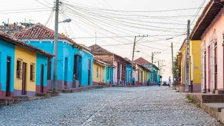 cobbled stone streets of Trinidad Cuba