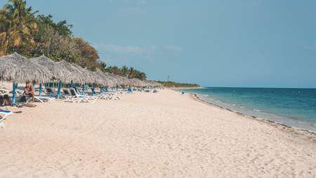 Blue sea in Playa Ancón Cuba