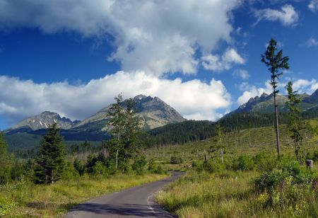 tatra: Road in Tatra Mountains, Slovakia