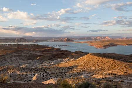 Sunset panoramic view at Lake Powell, Utah, USA