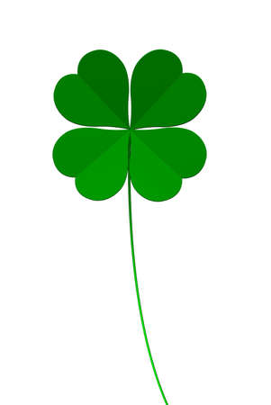 four leaved: clover four leafs, luck and fortune Stock Photo