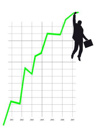 graphs, growth, success, profit, boss Vettoriali
