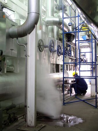 pipelines and engineer, factory Stock Photo - 2512353