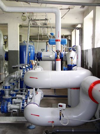 pipeline, factory, boiler-room