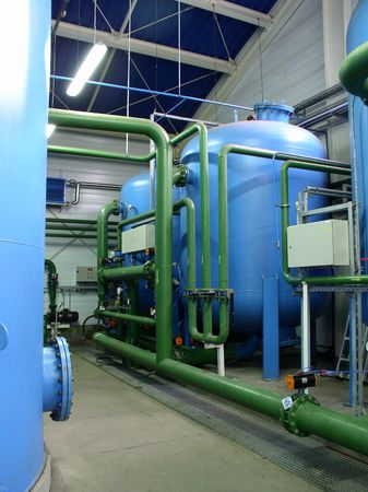 pipeline and boilers in the factory