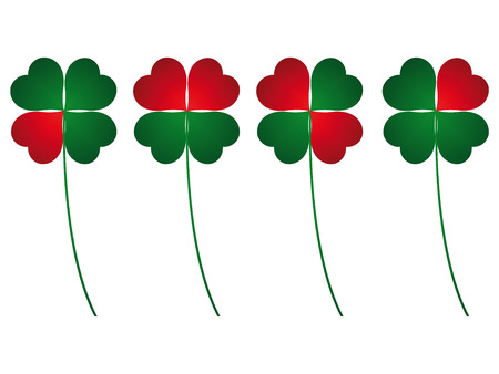 four leafs clover: clover four leafs, luck and love