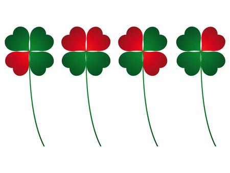 four leafs clover: El tr�bol de cuatro hojas, suerte y amor