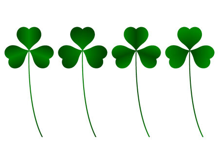 three leafed: clover three leafs Illustration