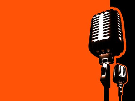 soul music: retro microphone and paths
