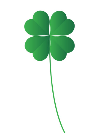 leafed: clover four leafs, luck and fortune Illustration