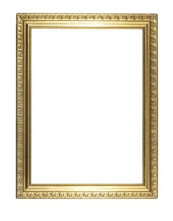 retro very old gold frame Standard-Bild