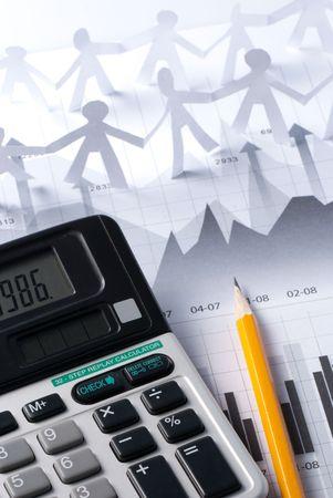 Stock market for investor analysis photo