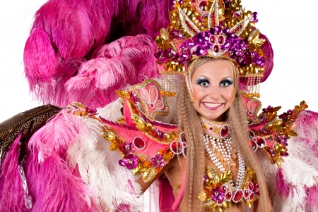 Beautiful carnival dancer in amazing costume photo