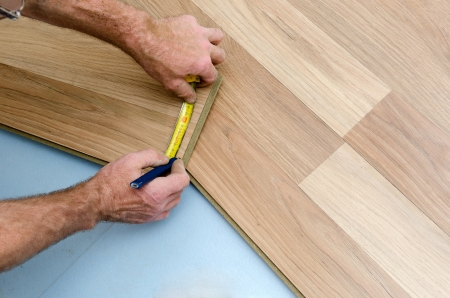 Home improvement, floor installation Stock Photo - 20443298