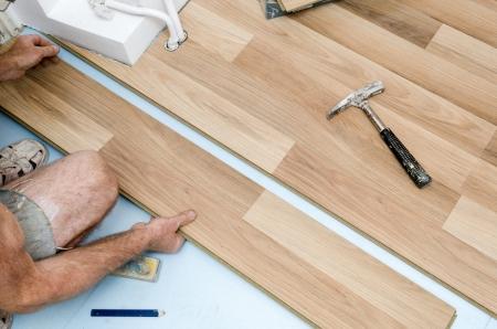 Home improvement, floor installation Stock Photo - 20443295