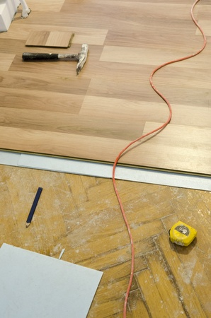 Home improvement, floor installation Stock Photo - 20443294