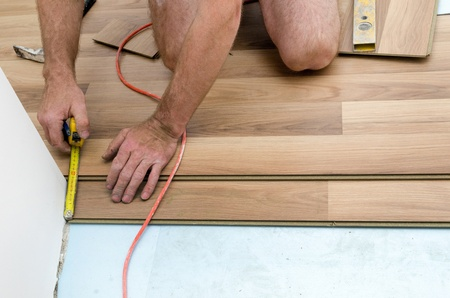 Home improvement, floor installation Stock Photo - 20443297