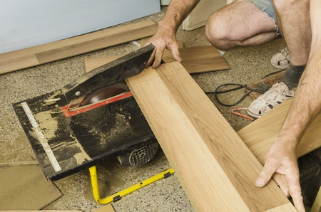 Home improvement, floor installation Stock Photo - 20443296