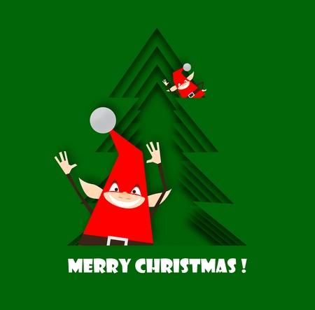 Happy and funny christmas elfs photo