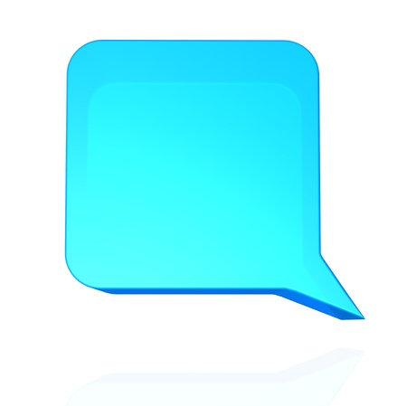 Blue speech balloon Stock Photo - 22196203