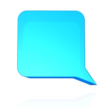 talk balloon: Blue speech balloon
