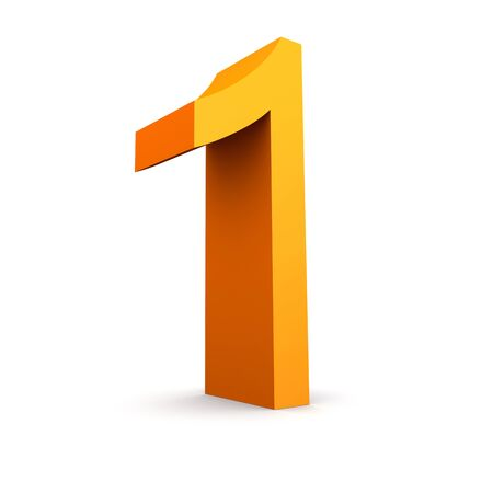 finanse: Collection of orange numbers on a white  Stock Photo