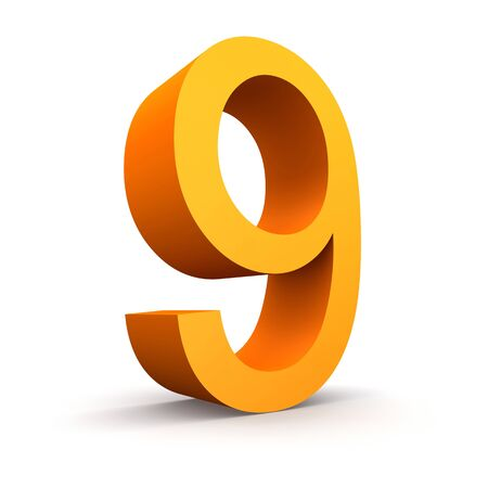 finanse: Collection of orange numbers on a white background