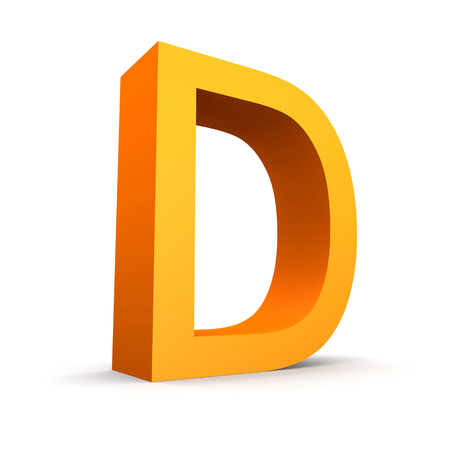 d: Collection of orange letters  Stock Photo