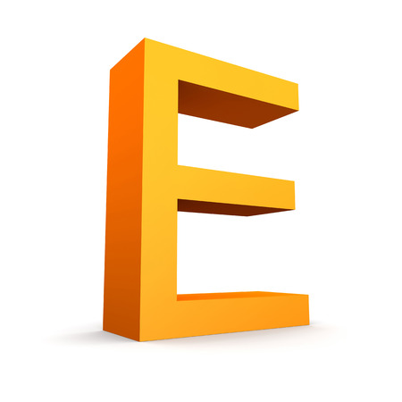 Collection of orange letters  Stock Photo