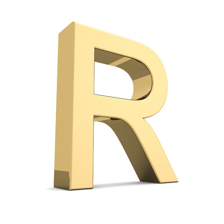 Collection of golden letters