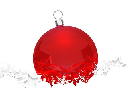 Christmas bauble for your design. photo