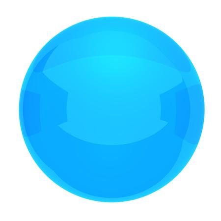 Blue ball on white background photo