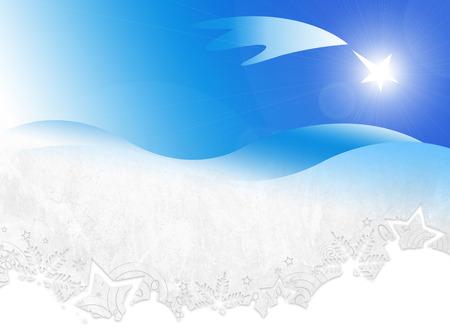 bethlehem crib: Star of Bethlehem. Good news. Stock Photo