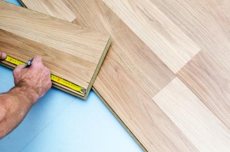 Home improvement, new floor installation Stock Photo