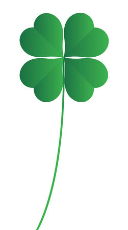 four leaved: fourleaf clover on a white background