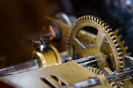 long lived: Very old clock mechanism Stock Photo
