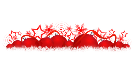 horizontal banner: Christmas background for your design.