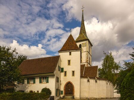 fortify: Fortified Church of St Arbogast in the village Muttenz