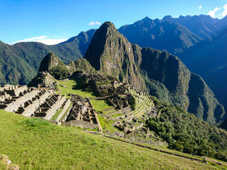 Machu Picchu. Ancient Inca city in the Andes mountains of Peru Banque d'images