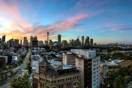 man made structure: Sydney Sunset Editorial