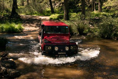 defender: Land Rover Defender 110, Firenze Red Editorial