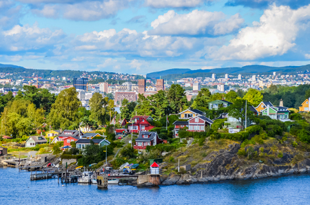 Oslo a city in the fjord 스톡 콘텐츠