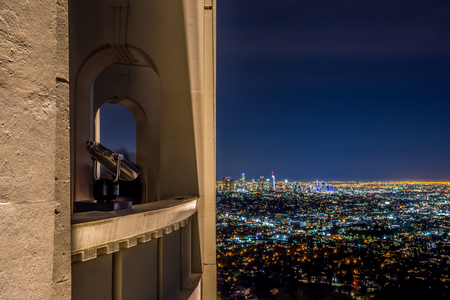 Night view of Downtown Los Angeles from The Griffith Observatory