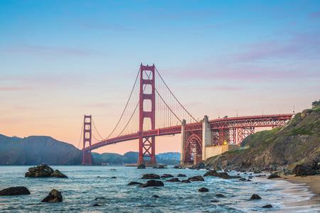 As the sun goes down, enjoy the Golden Gate Bridge of San Francisco
