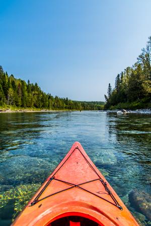 Canoe on the Canadian Bonaventure River