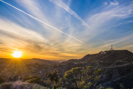 Hollywood Hills sunset Los Angeles