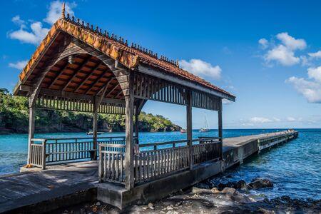 Anse Noire Martinique beach pontoon